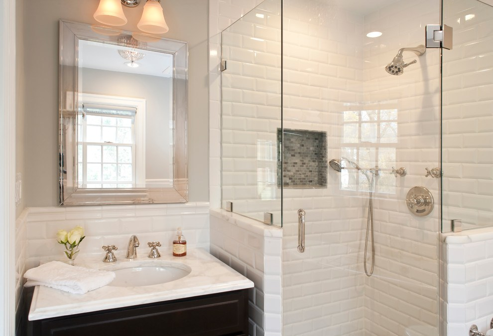 White Bathroom Ideas Subway Tiles