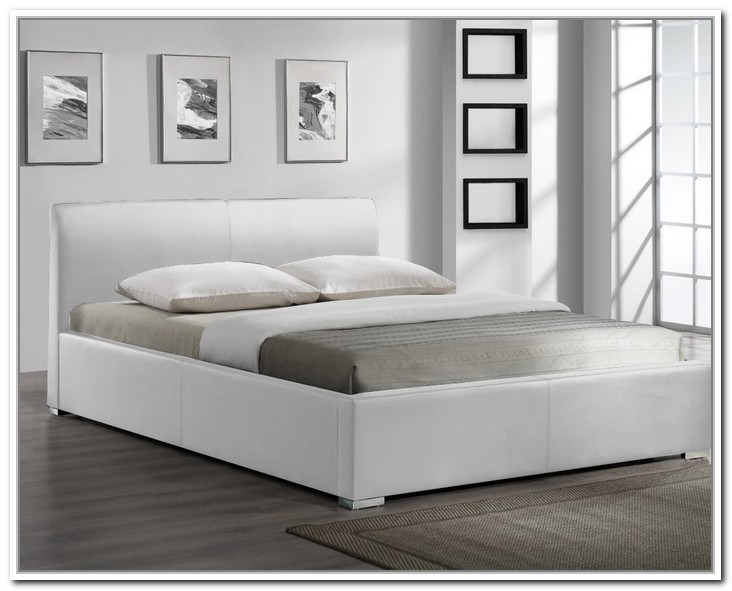 White Bed Frame Queen With Storage