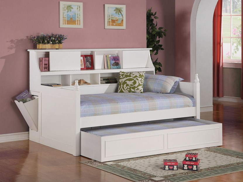 White Bed Frame With Storage Queen