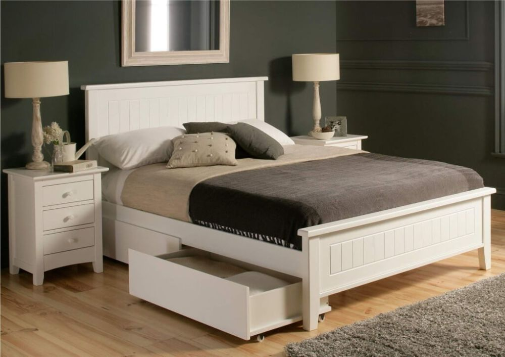 White Bed Frames Full Size
