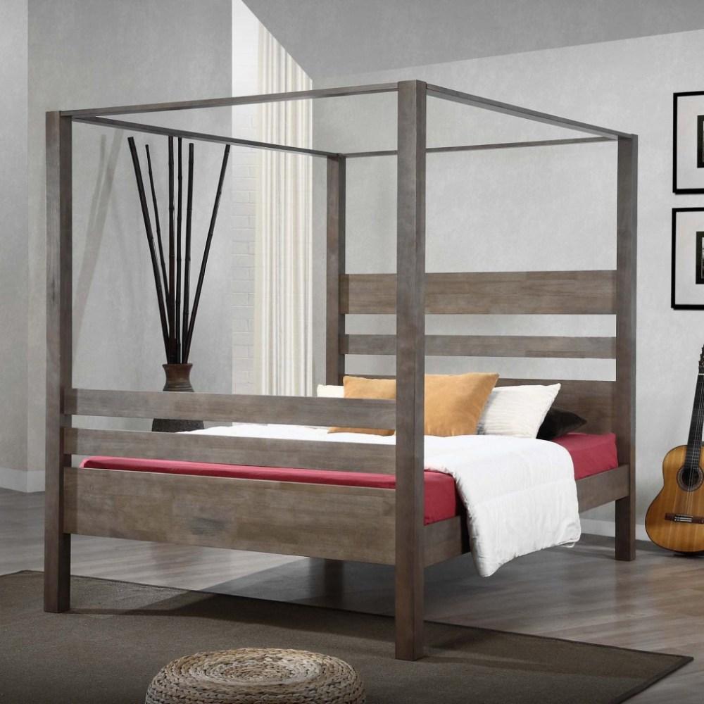 White Canopy Bed Frame Full