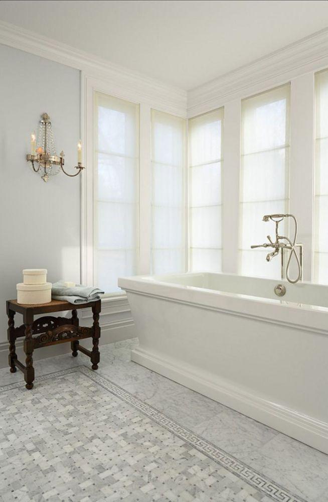 White Floor Tile Ideas