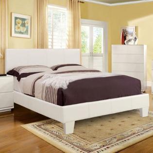 White Full Size Platform Bed Frame