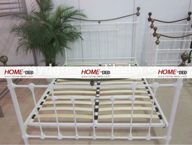 White Iron Bed Frame Double