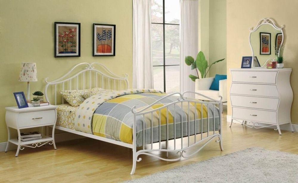White Iron Bed Frame Full Size