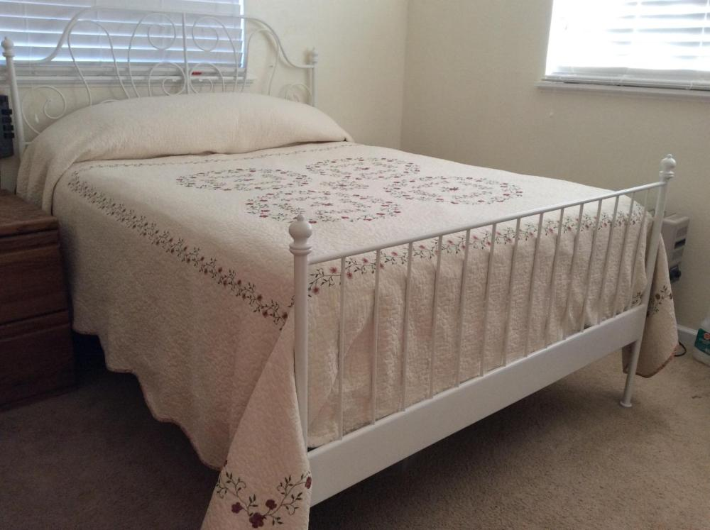 White Iron Bed Frame Ikea