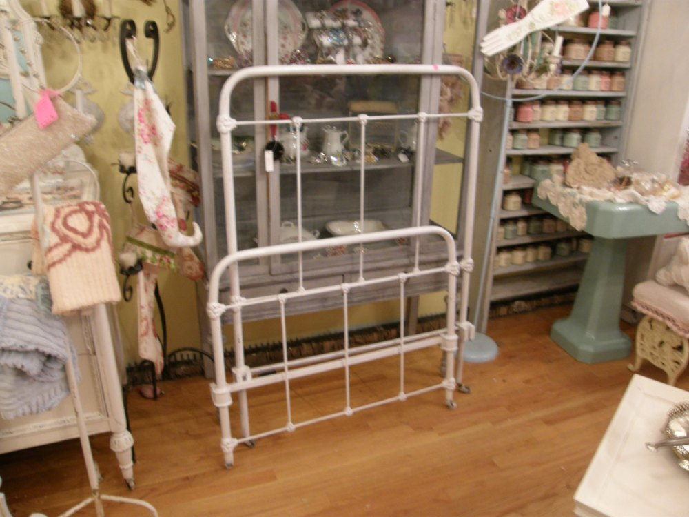 White Iron Bed Frame Twin