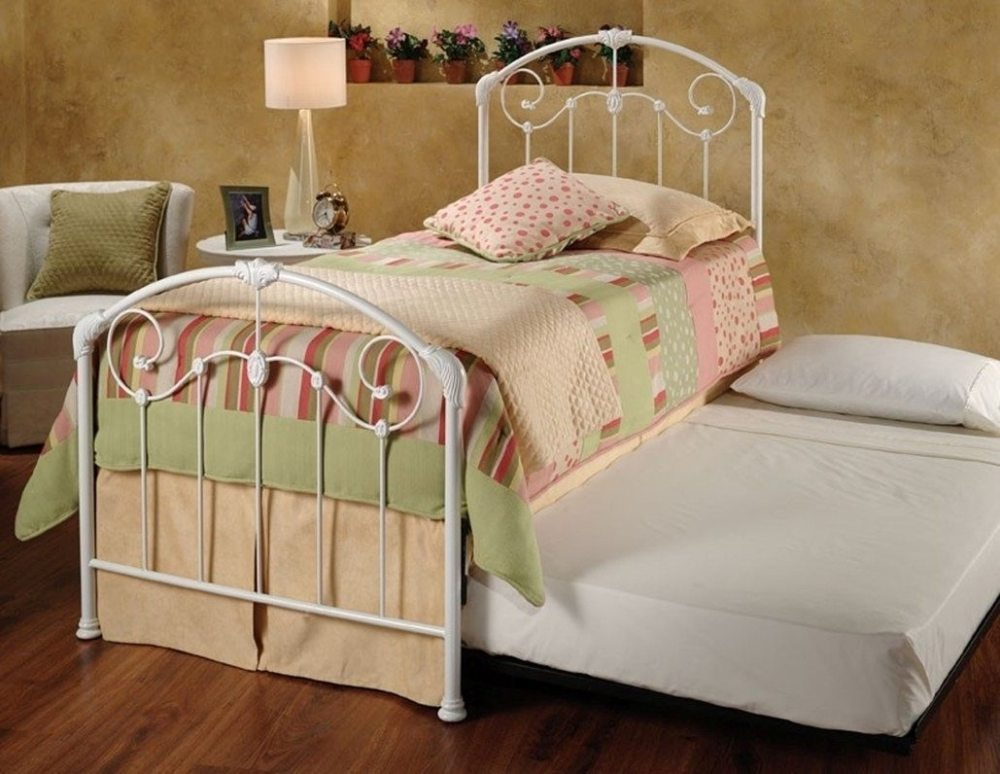 White Iron Twin Bed Frame