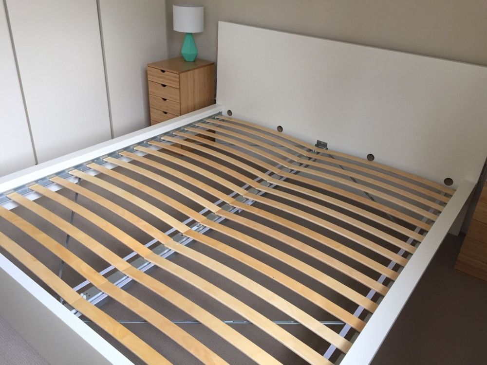 White King Size Bed Frame Ikea