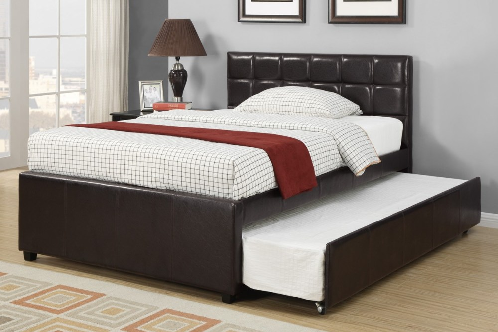 White Leather Bed Frame Full Size