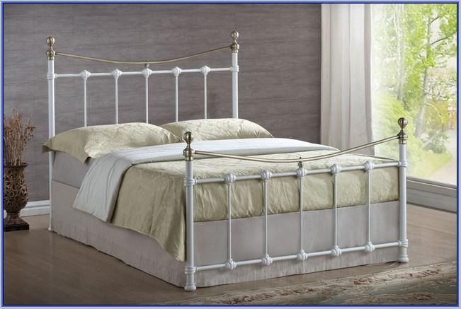White Metal Bed Frame Full Size