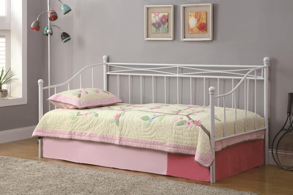 White Metal Bed Frame Twin