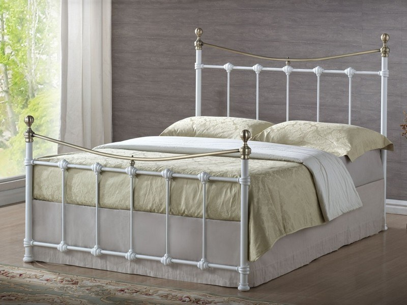 White Metal Full Bed Frame