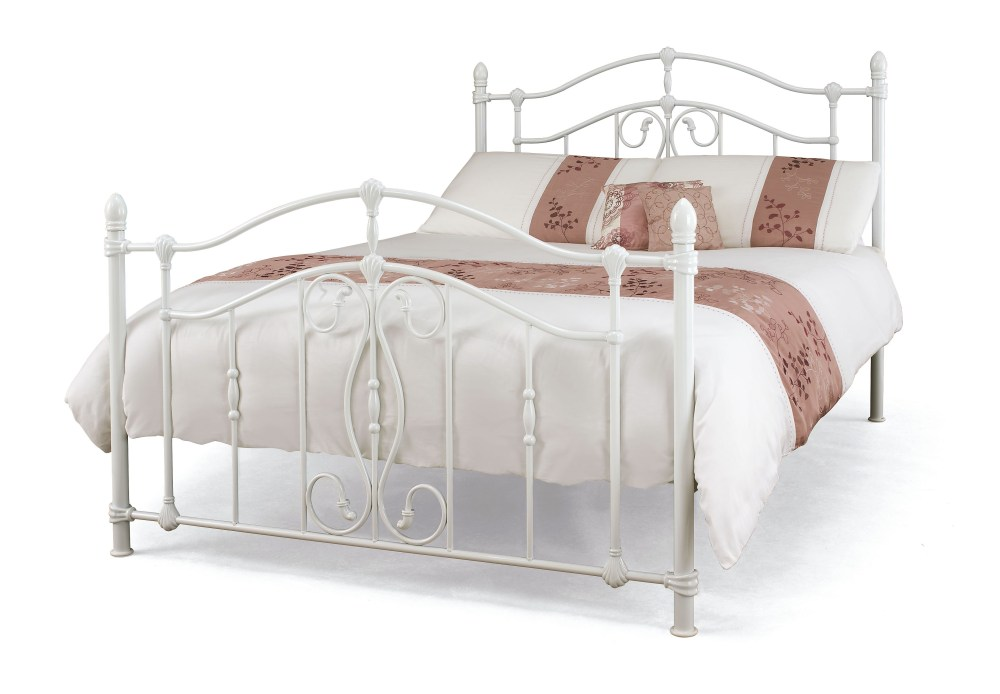 White Metal King Size Bed Frame