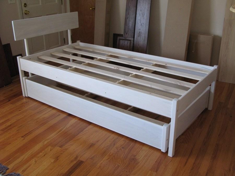 White Platform Bed Frame Twin
