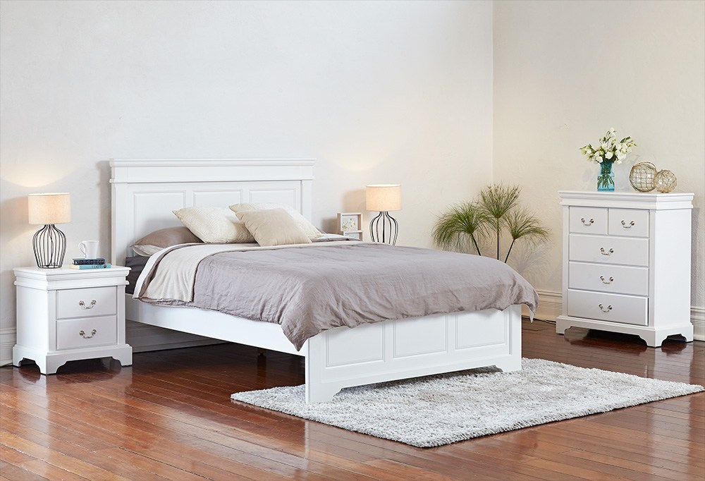 White Queen Bed Frame Perth