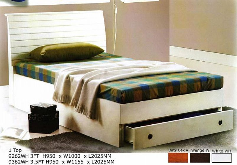 White Queen Bed Frame With Drawers