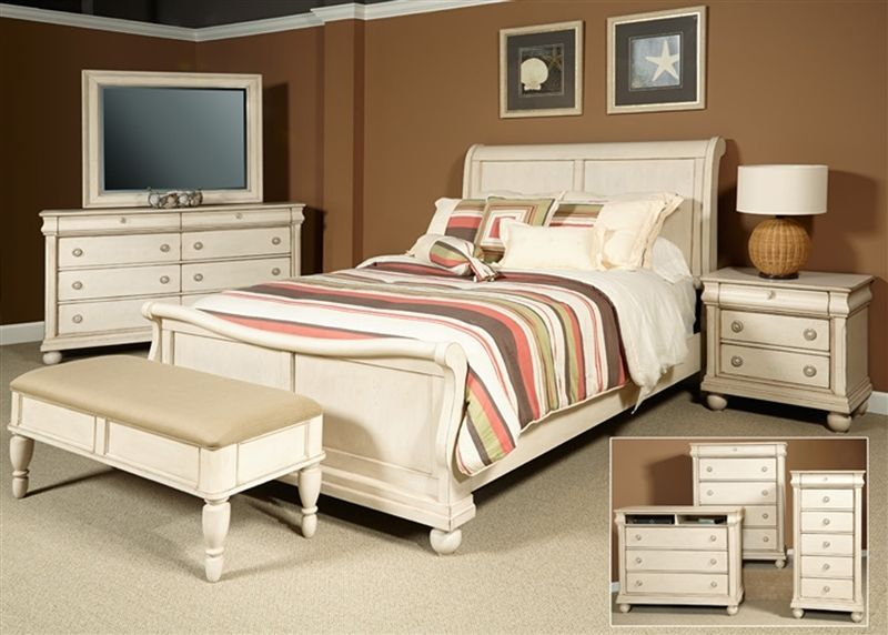 White Queen Sleigh Bed Frame