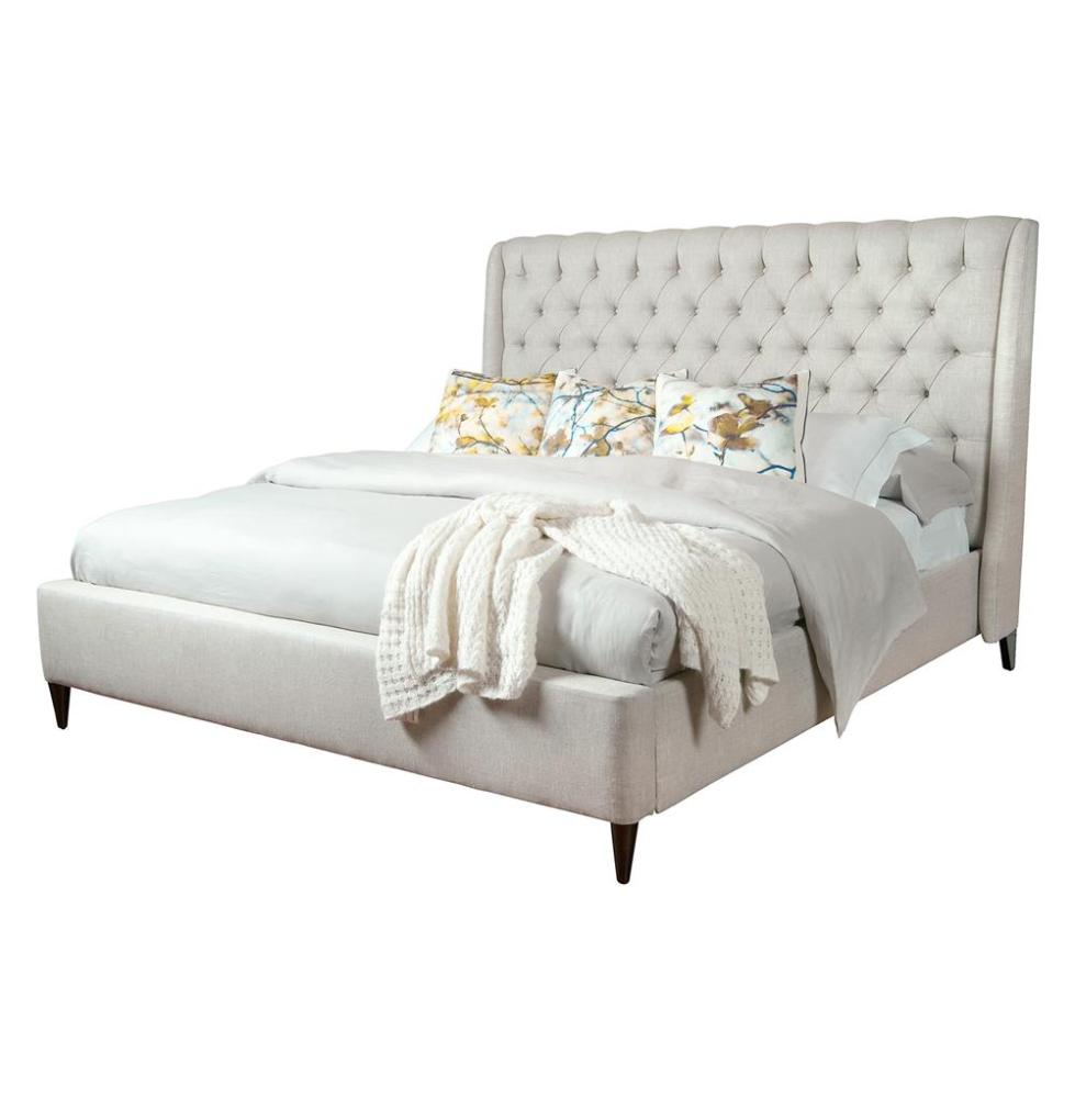 White Tufted Queen Bed Frame