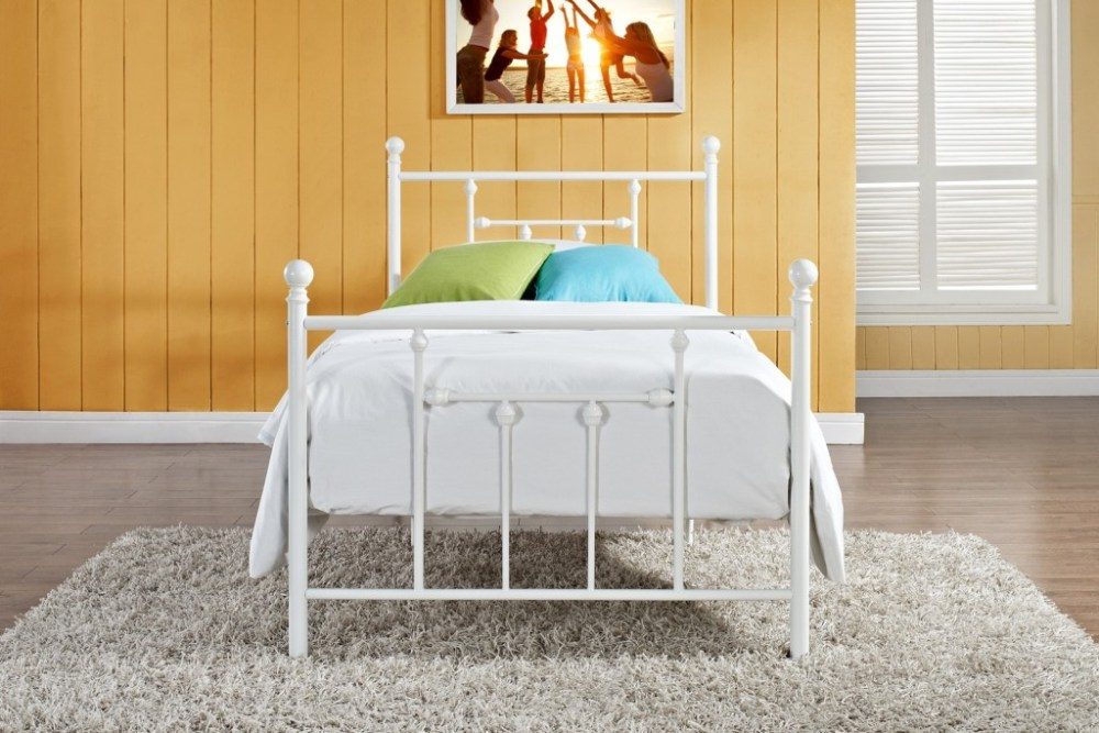 White Twin Bed Frame Metal