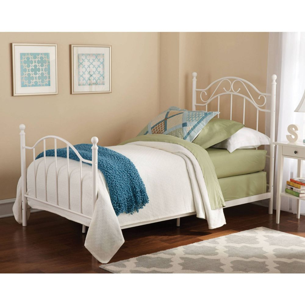 White Twin Bed Frame With Headboard