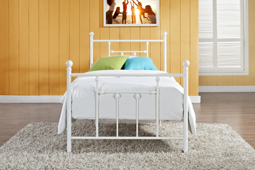 White Twin Bed Frame Wood