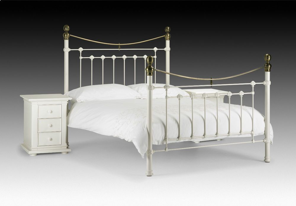 White Victorian Bed Frame