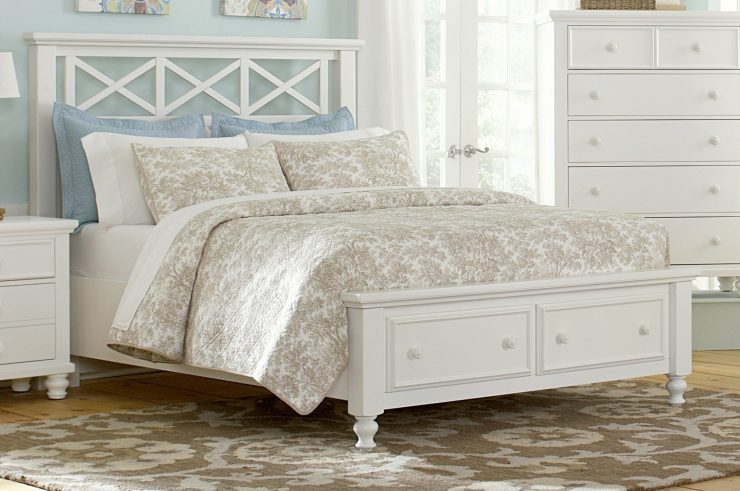 White Vintage Queen Bed Frame