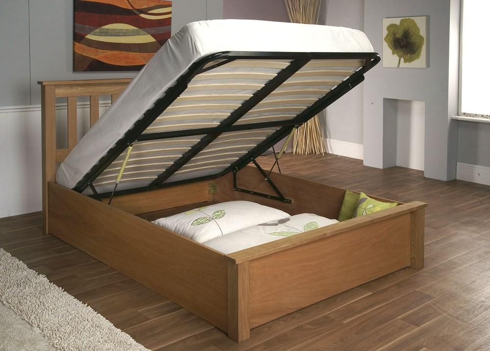 White Wood Platform Bed Frame
