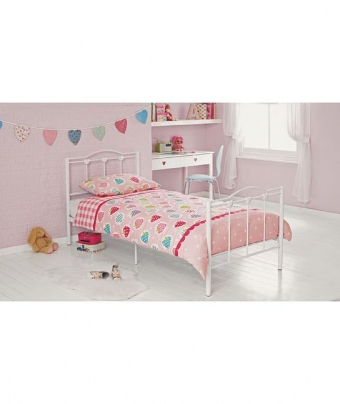 White Wooden Bed Frame Argos