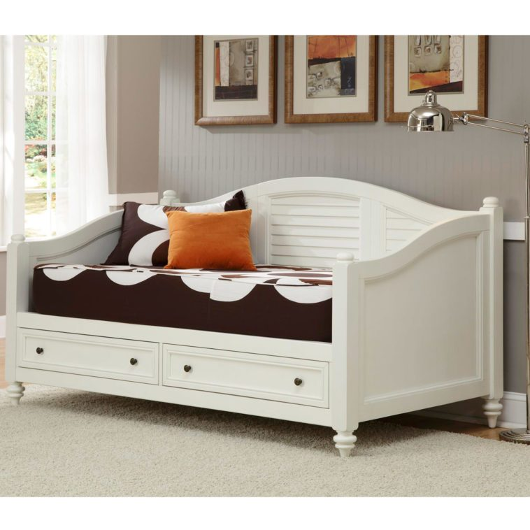 White Wooden Full Size Bed Frame