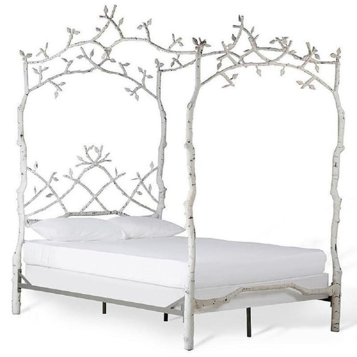 White Wrought Iron Queen Bed Frame
