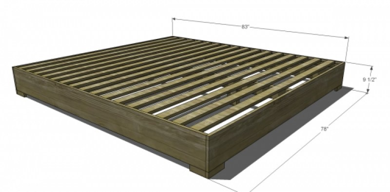 Width Of King Size Bed Frame