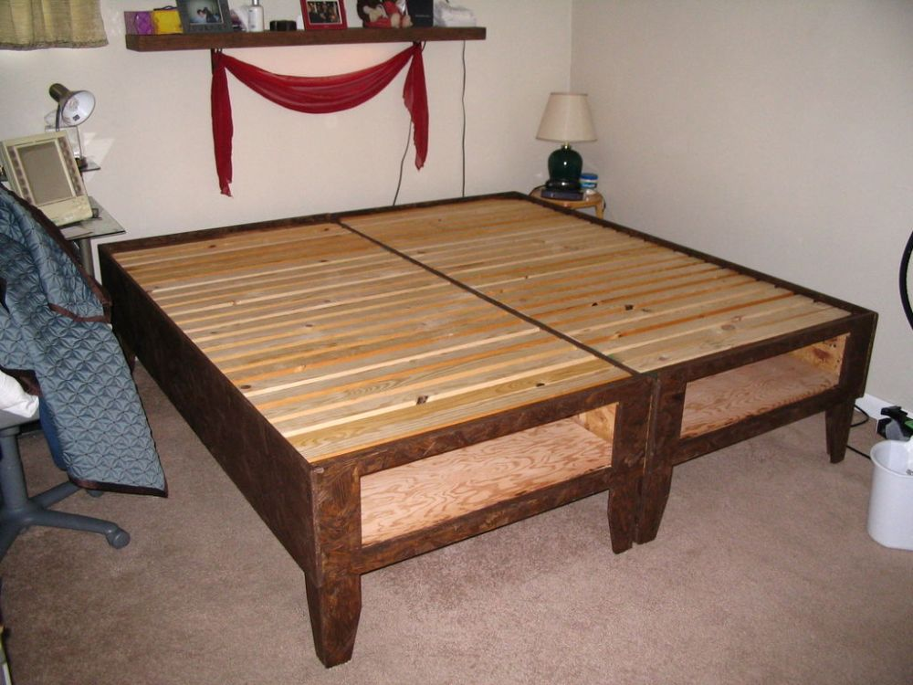 Wood Bed Frame Plans With Drawers