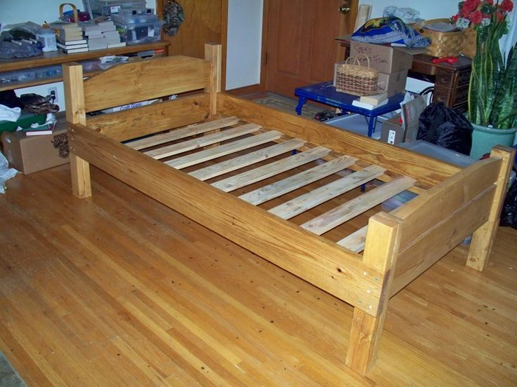 Wood Bed Frame Twin