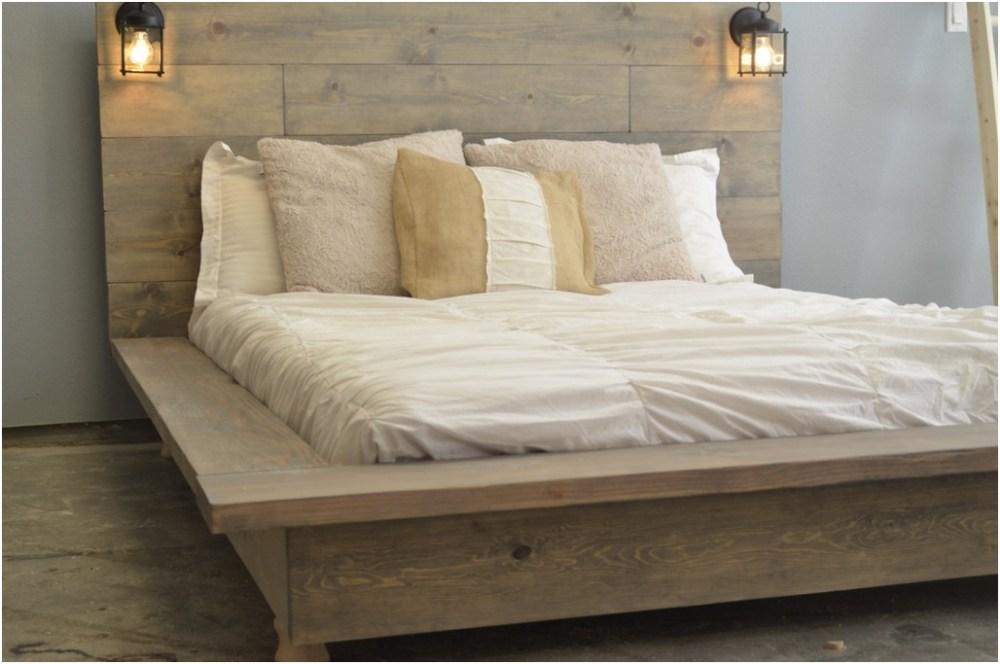 Wood Pallet Bed Frame With Lights