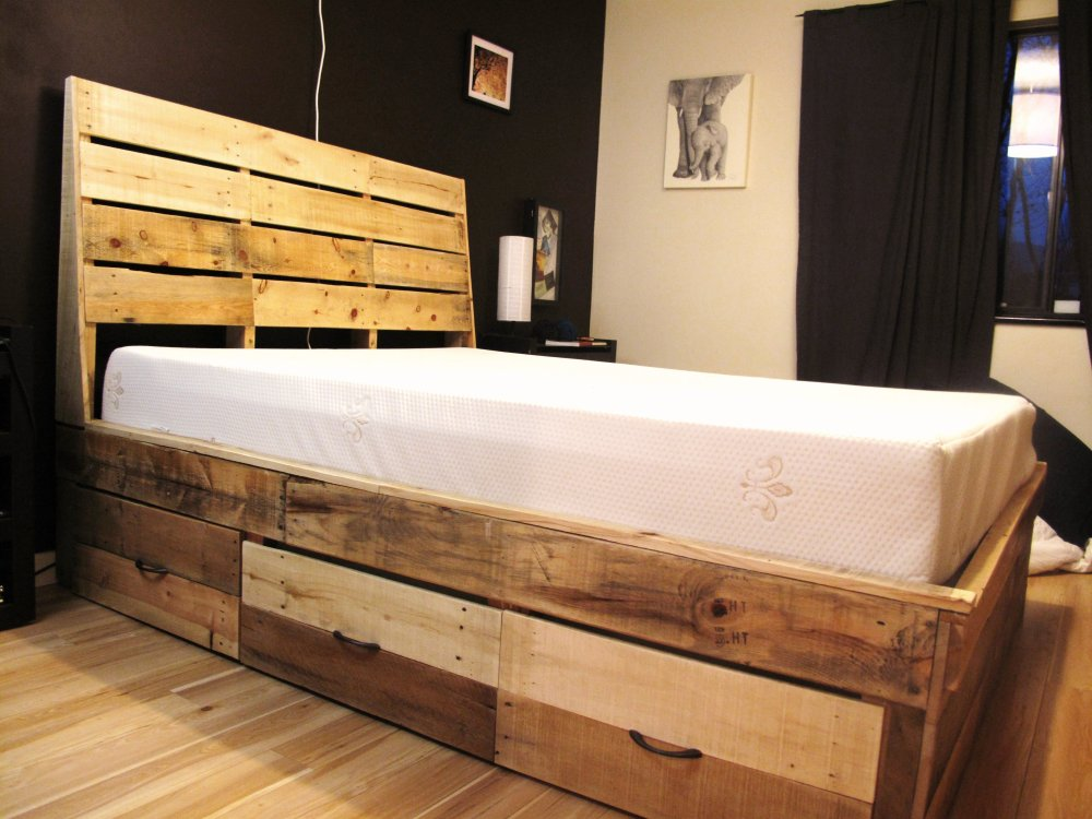 Wood Pallets Bed Frame