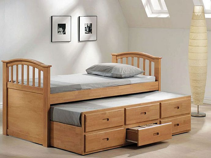 Wood Queen Bed Frame With Drawers