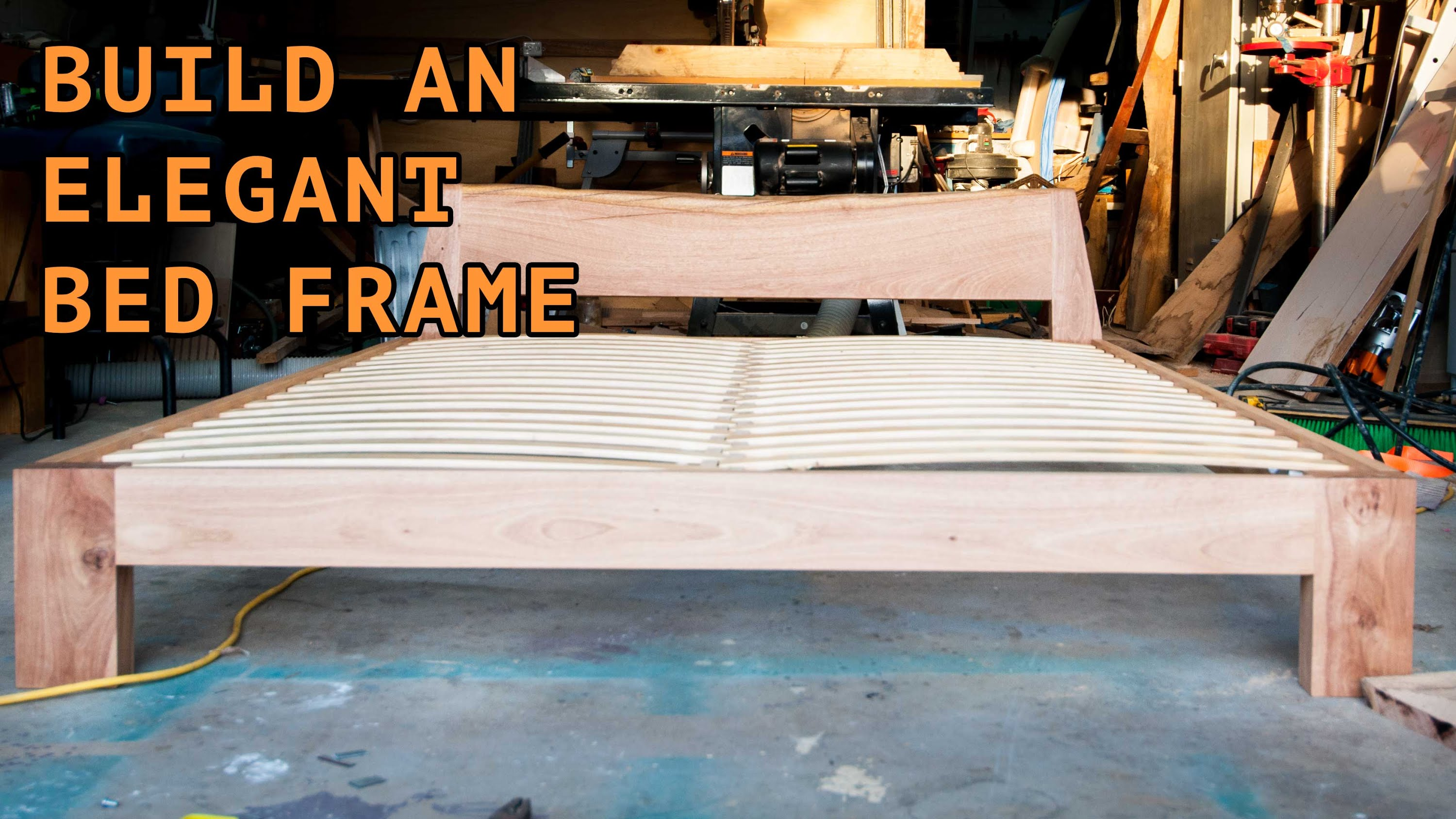 Wood Slat Bed Frame Diy