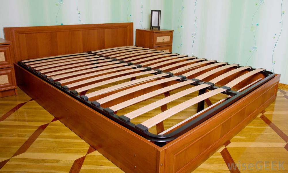 Wood Slat Bed Frame Full