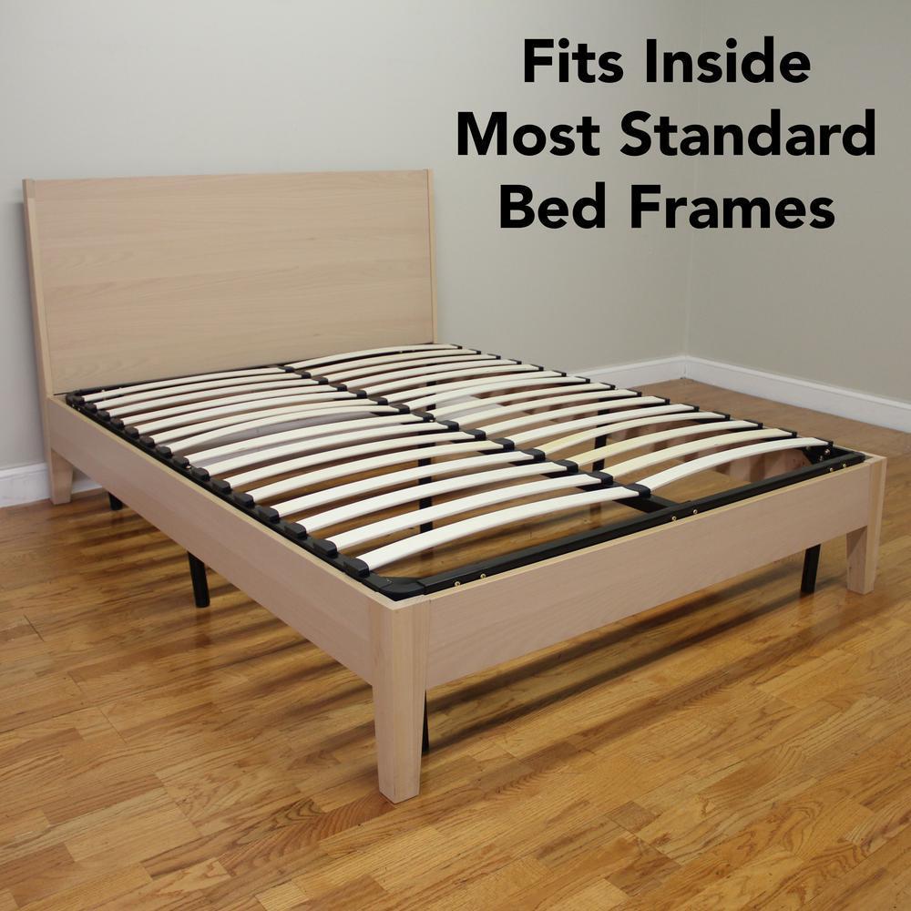 Wood Slat Bed Frame Queen
