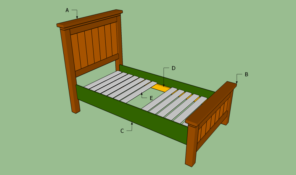 Wood Twin Bed Frame Diy