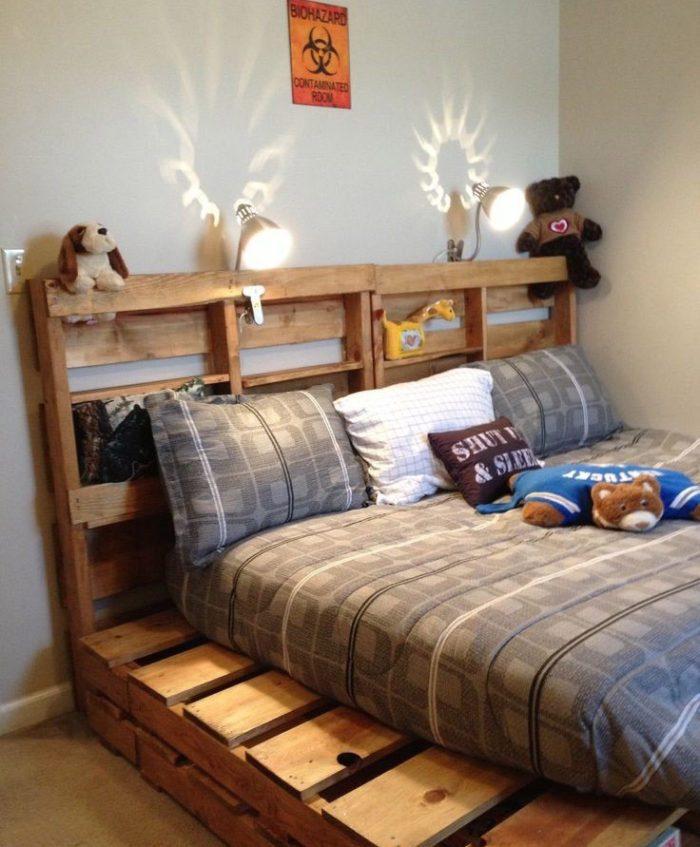 Wooden Pallet Bed Frame Diy