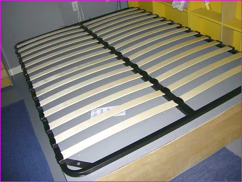 Wooden Slat Bed Frame Black Size Twin