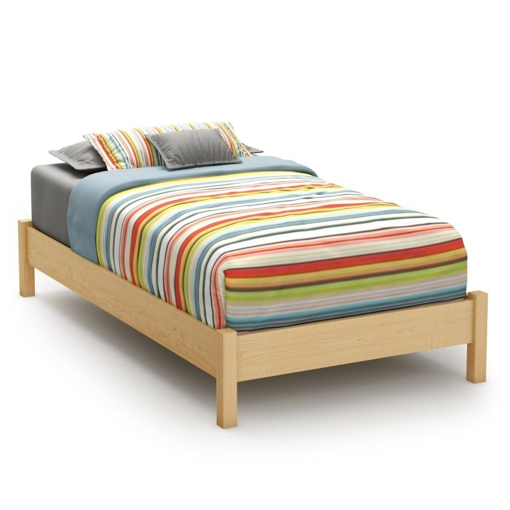 Wooden Twin Bed Frame With Headboard