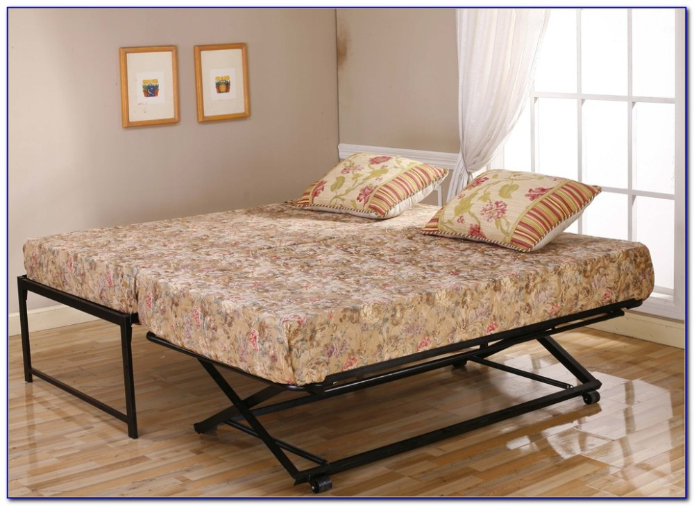 Xl Twin Bed Frame With Pop Up Trundle
