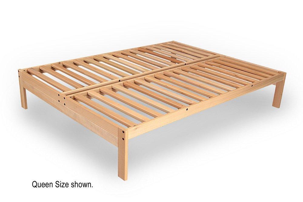 Xl Twin Size Nomad Platform Bed Frame Solid Hardwood