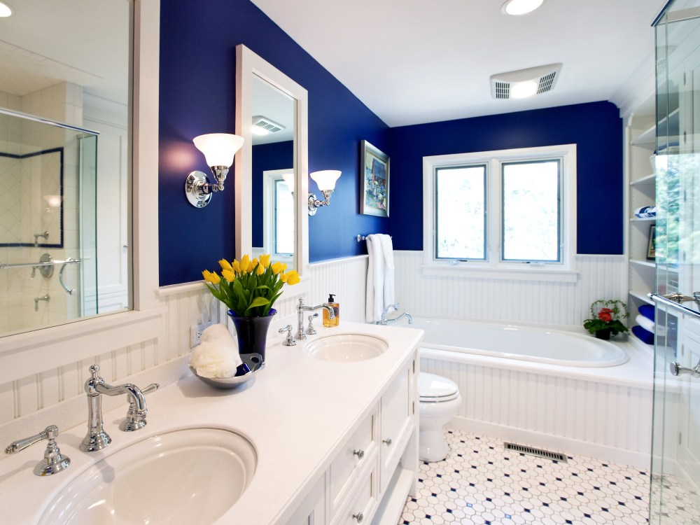 Yellow Blue Bathroom Ideas