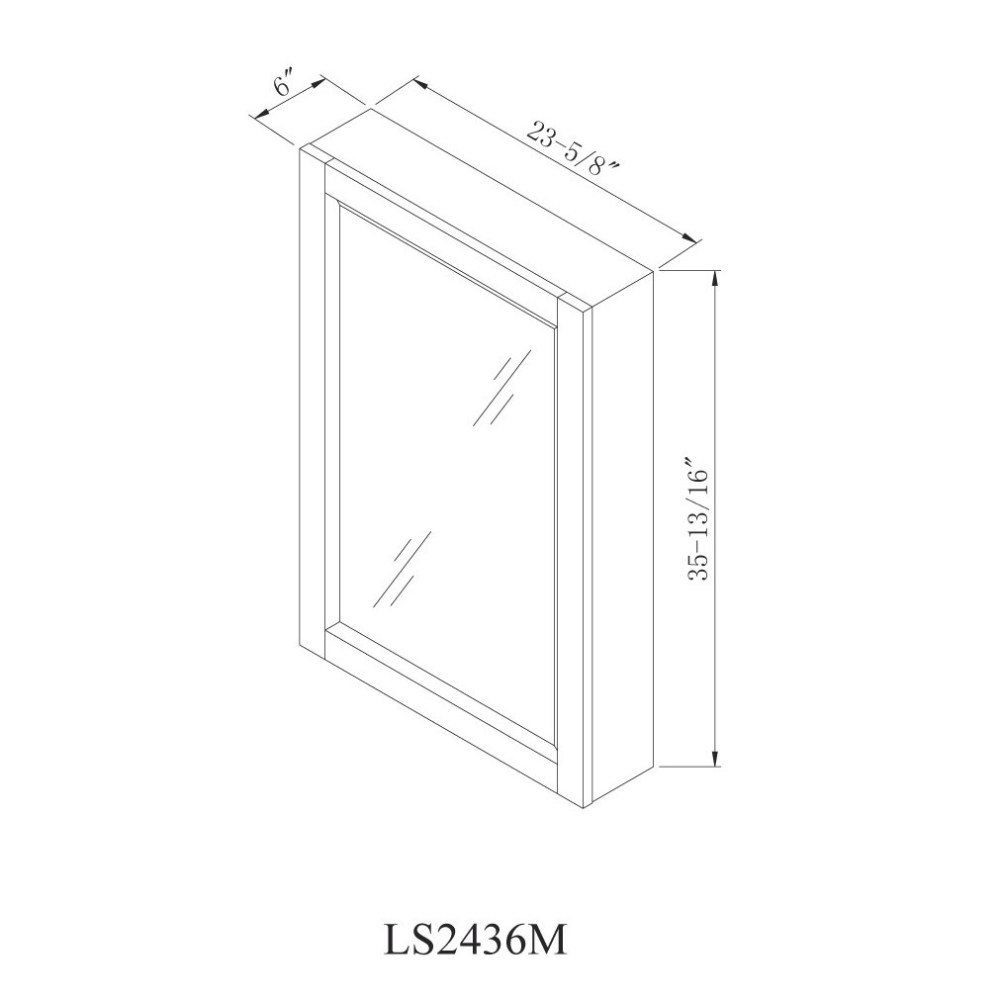 24 X 36 Surface Mount Medicine Cabinet