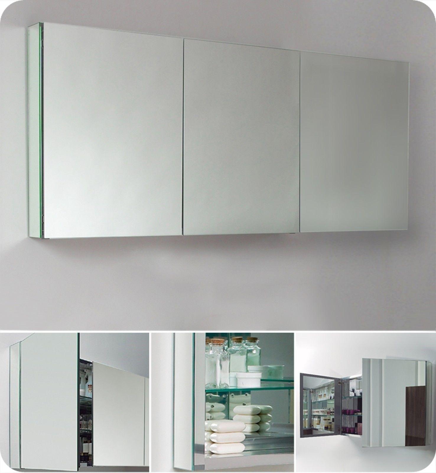 3 Door Mirrored Medicine Cabinet
